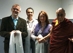 Will LeStrange with The Dalai Lama - Louisville 2013